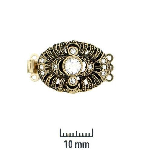 Antique style 3 row clasp - model 'H'  BACK IN STOCK SOON