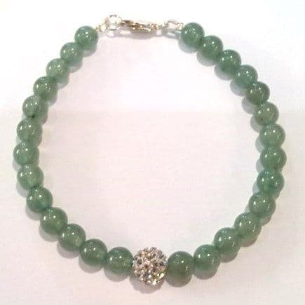 jade bracelet with sparkling crystal ball