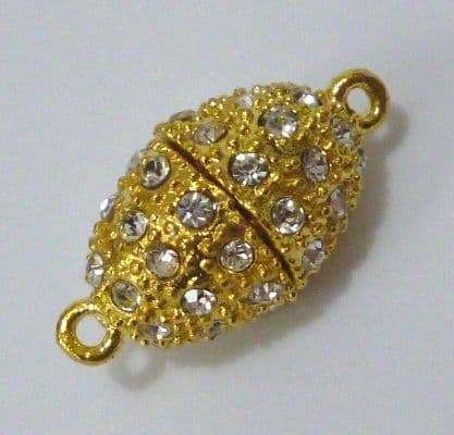 Large Gold-Plated Magnetic Clasp