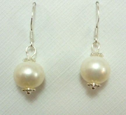Large, Lustrous White Pearl Drops