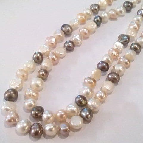 Naturally coloured Baroque pearls 36 inches