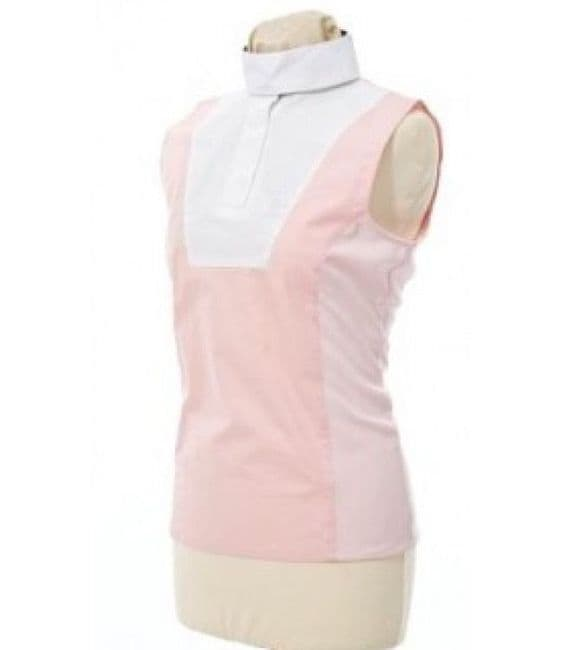Tagg Equestrian Sleeveless Hickstead Show Shirt With Stock Collar