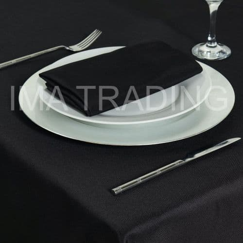 "BLACK ROUND TABLE CLOTH 305cm / 120"" round (6' table)"
