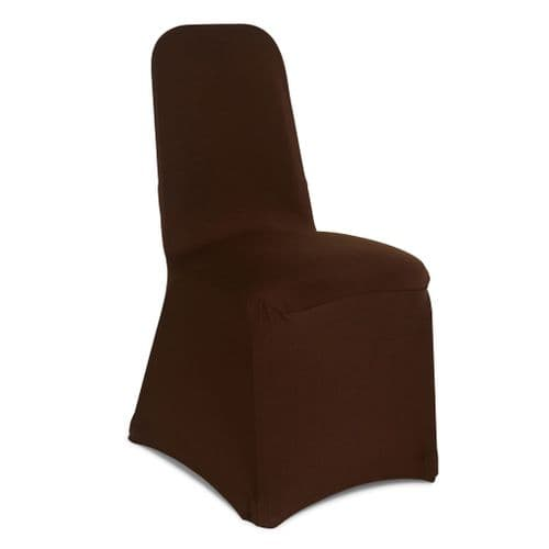 BROWN SPANDEX CHAIR COVER