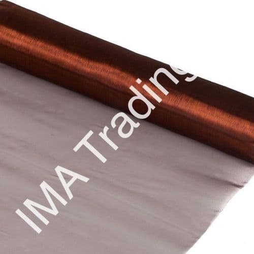Chocolate Organza Fabric Roll 80cm X 25m