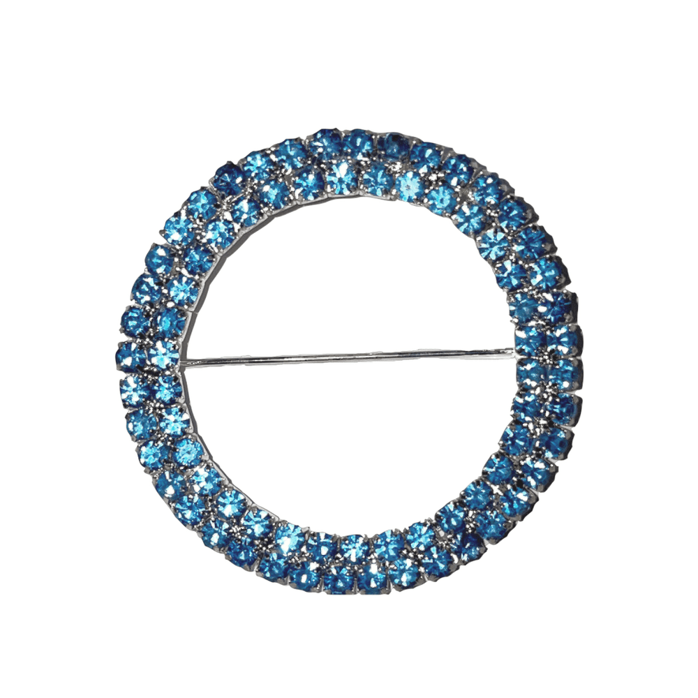 Dusty Blue Diamante buckles / brooches