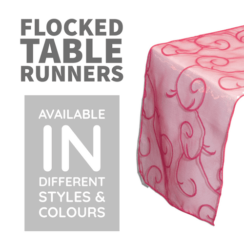 Flocked Organza Table Runners