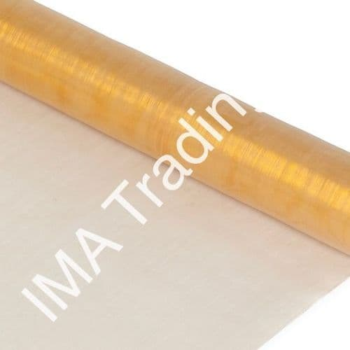 Gold Organza Fabric Roll 80cm X 25m