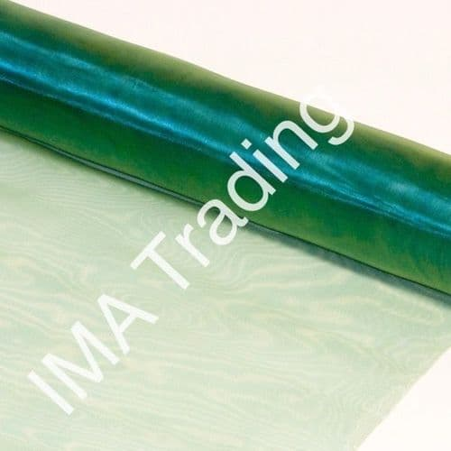 Heather Green Organza Fabric Roll 80cm X 25m