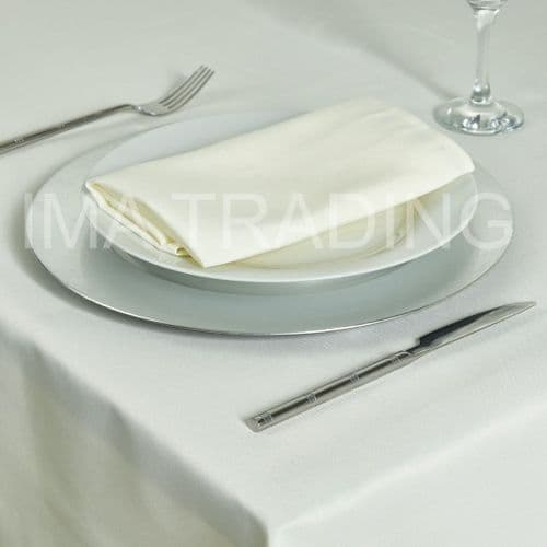 "IVORY TABLE CLOTH 230cm x 330cm / 90"" x 130"""