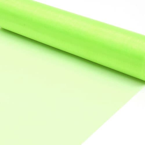 Lime Organza Fabric Roll 80cm X 25m