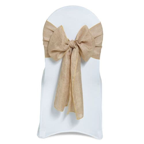 Linen Hessian Sashes