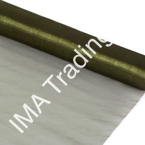 Olive Green Organza Fabric Roll 80cm X 25m