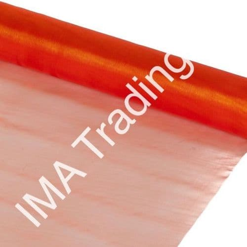 Orange Organza Fabric Roll 80cm X 25m