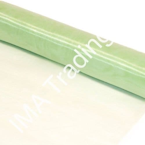Sage Green Organza Fabric Roll 80cm X 25m