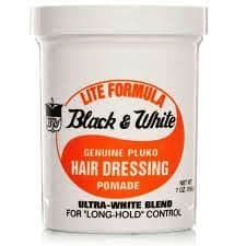 Black & White -Lite Formula Genuine Pluko Hair Dressing Pomade -200ml