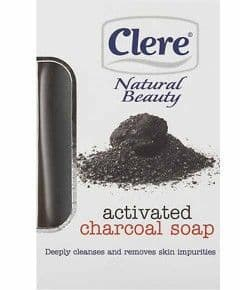 Clere Natural Beauty Activated Charcoal Soap 150g