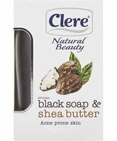 Clere Natural Beauty Black Soap And Shea Butte 150g