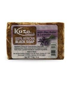 Kuza African Black Soap With Shea Butter Lavender 114g