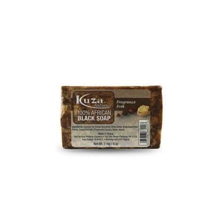 Kuza Naturals 100% African Black Soap Fragrance Free 114g