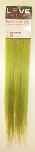 """Love Hair Extensions Easy-2-Extend Human Hair Clip In Extensions 18"""" Col. Green TWIN PACK"""