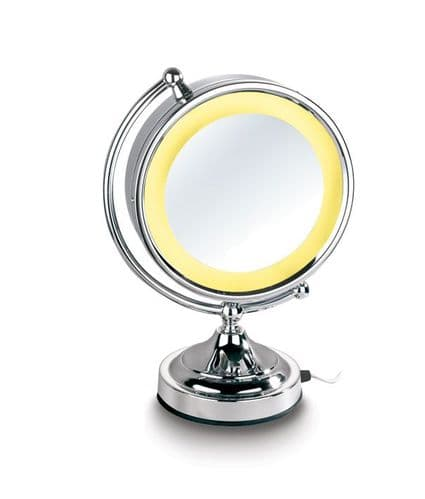 "Mirror-Smart LED 8"" Double Sided HD Mirror"