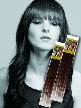 "Single Piece Clip In Human Hair Extensions 18"" Normal Shades"