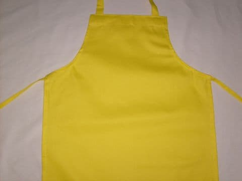 School Apron - Yellow Apron With / Without Pocket  (Age 11-15)