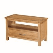 "city oak small tv video cabinet  ""75cm wide x 35 cm deep"""