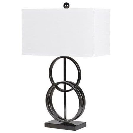 contemporary lamp with shade