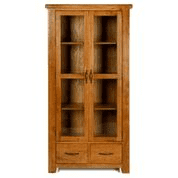 e wood glazed display cabinet