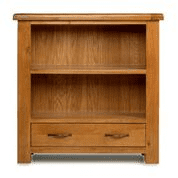 e wood low bookcase with drawer