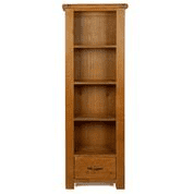 earlswood slim bookcase with drawer