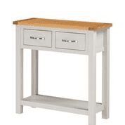 hartford painted 2 drawer hall table