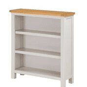 """hartford painted low small bookcase  """"75 cm wide"""""""