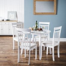 """host """"white"""" drop leaf table and chairs"""