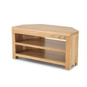 moda oak open corner tv video cab