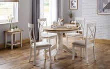 painted ivory table with 4 chairs