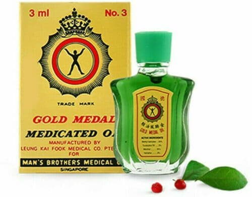 Gold Medal Medicated Oil - Cold Cough Flu Muscle Pain