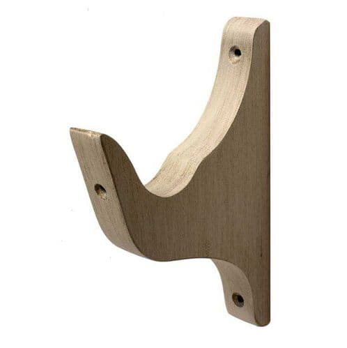 Modern Country 55mm Wooden Curtain Pole Architrave Bracket - Brushed Ivory