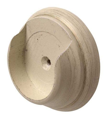Modern Country 55mm Wooden Recess Bracket - Brushed Ivory