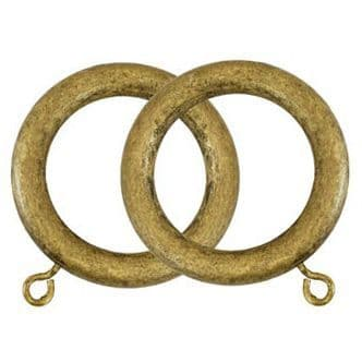 Museum 45mm Wooden Curtain Rings (Pack of 4) - Antique Gilt