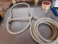 Rope Halter,Head collar  Showing, 15ft,adjustable, Cow, Sheep, Horse, FREE Postage