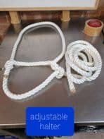 Rope Halter,Head collar  Showing, 8ft,adjustable, Cow, Sheep, Horse, FREE Postage
