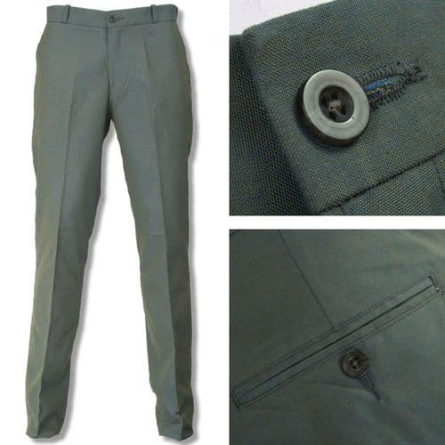 1960s Sta Press Tonic 2 Tone Trousers Green & Gold