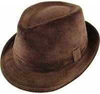 Cord Trilby Hat Brown
