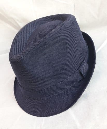 Cord Trilby Hat Navy