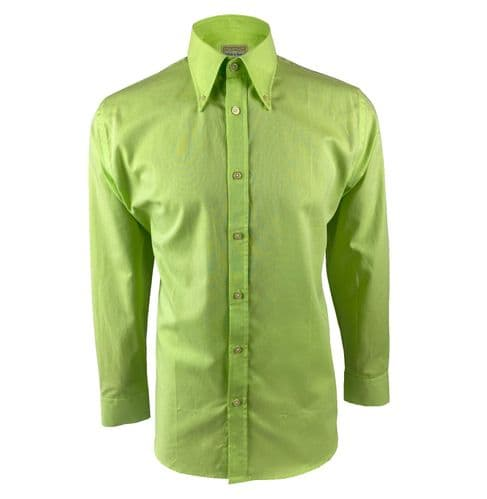 MOD Spearpoint Oxford Button Down Lime Green Long Sleeve Shirt