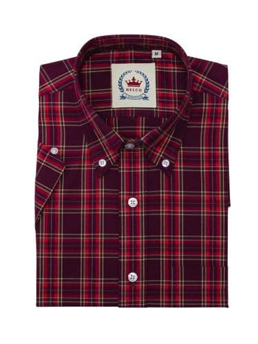 Relco Wine & Red Check Shirt