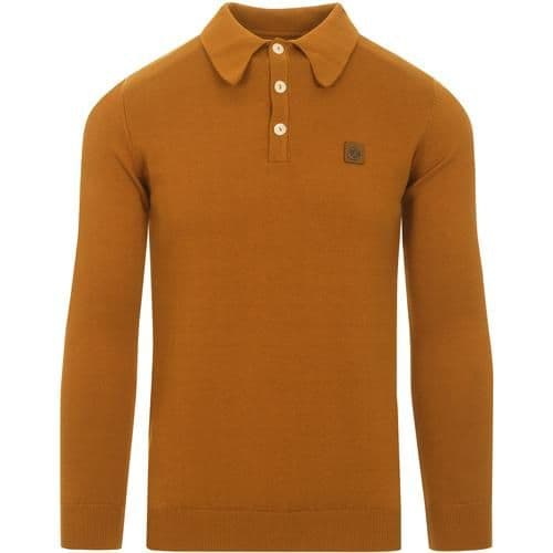 TROJAN Spearpoint Long Sleeve Top Golden Tan